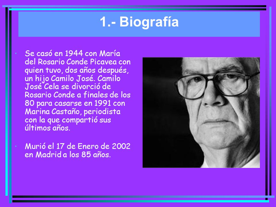 1.- Biografía