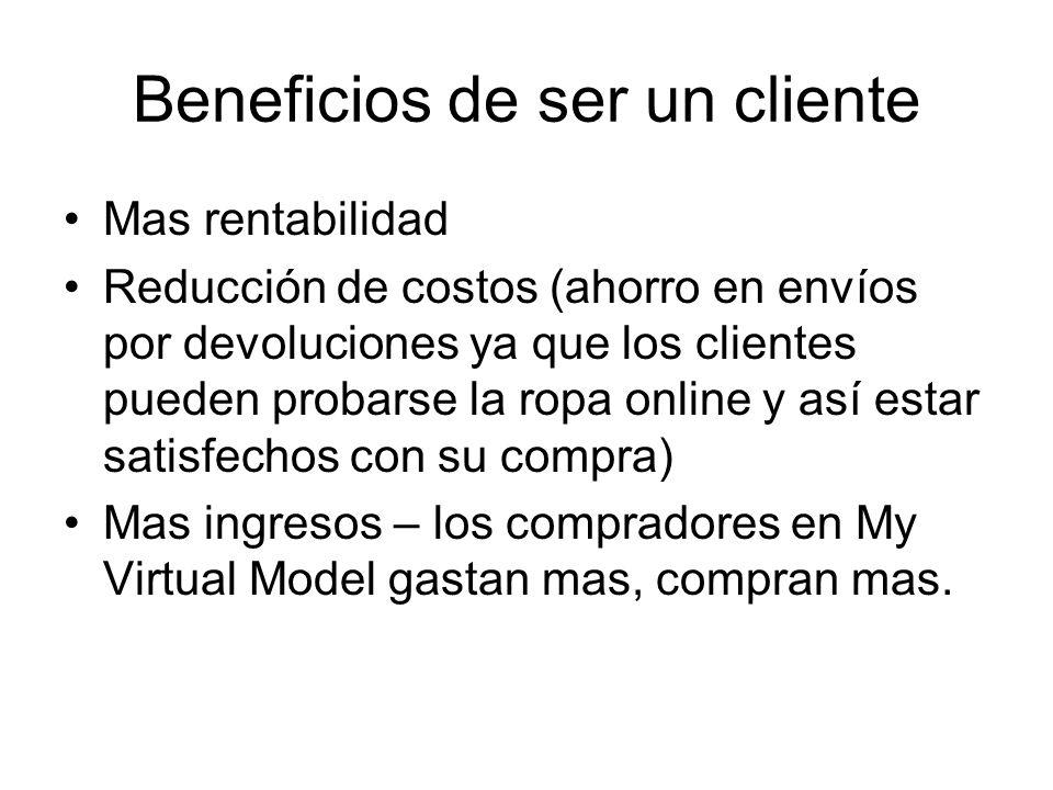 Beneficios de ser un cliente