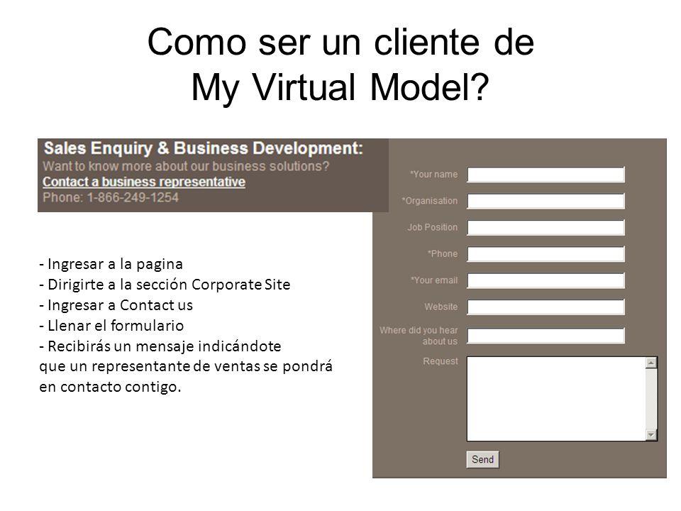 Como ser un cliente de My Virtual Model