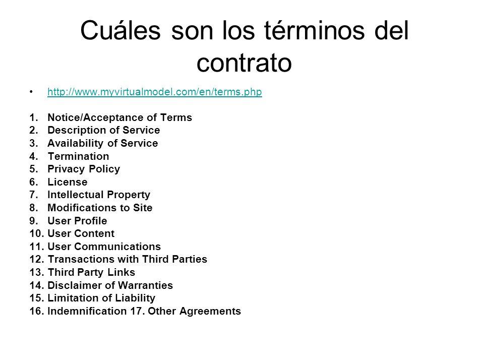 Cuáles son los términos del contrato