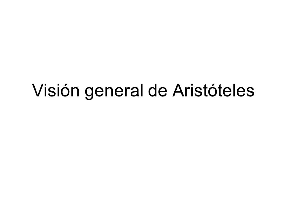 Visión general de Aristóteles
