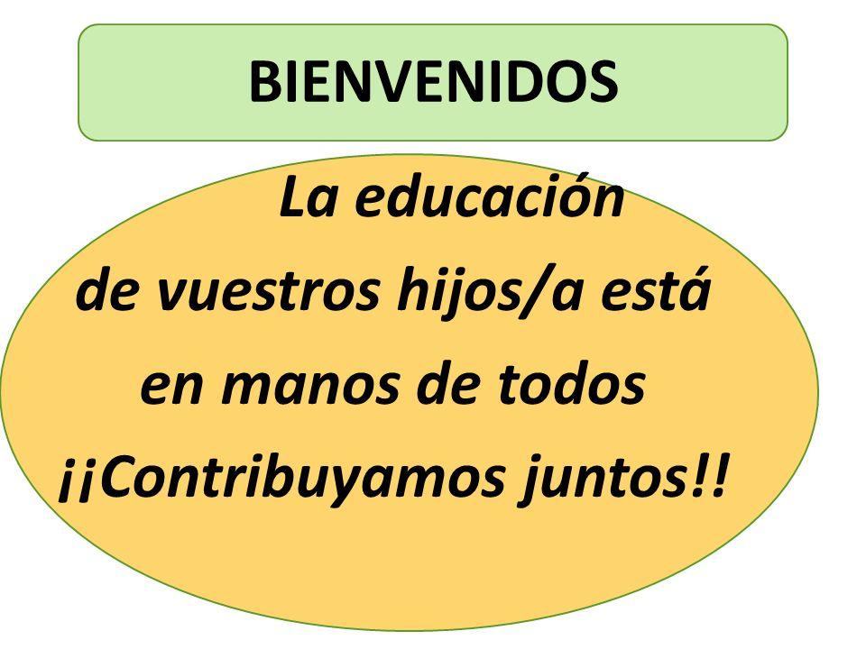 de vuestros hijos/a está ¡¡Contribuyamos juntos!!