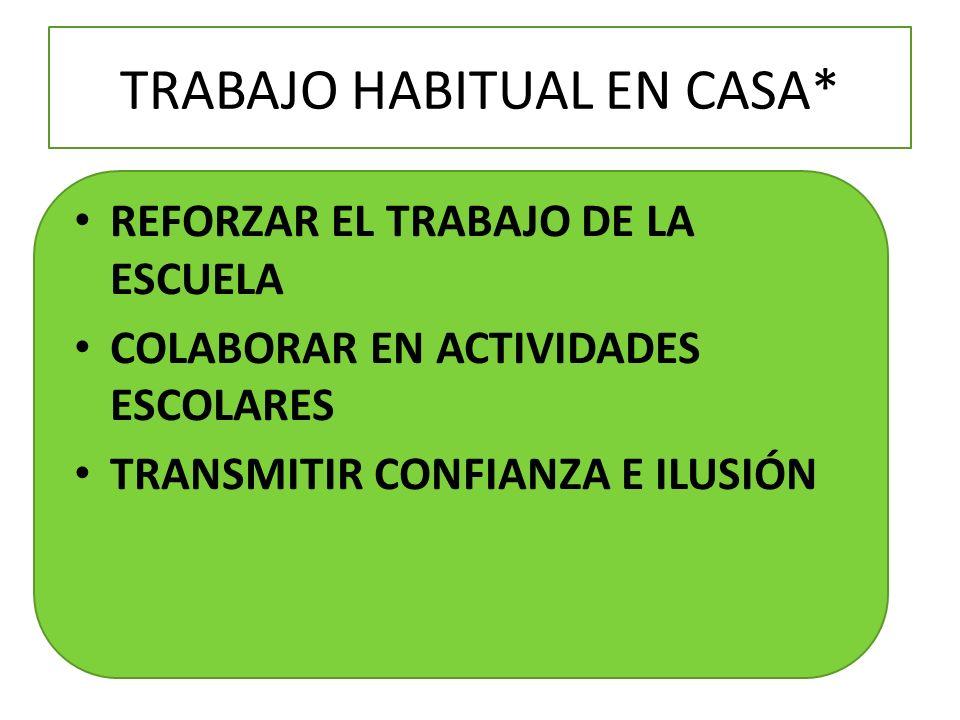 TRABAJO HABITUAL EN CASA*