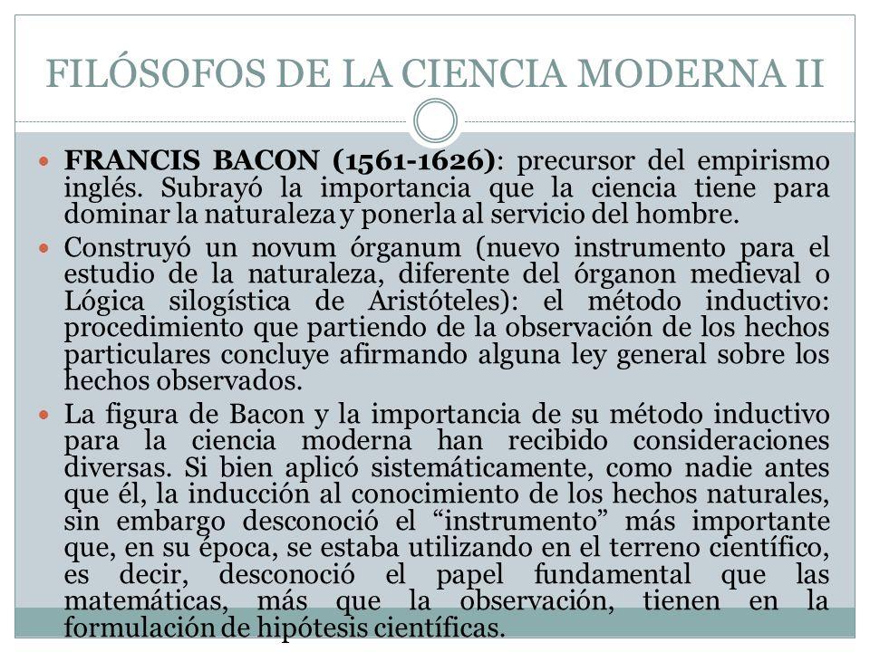 FILÓSOFOS DE LA CIENCIA MODERNA II