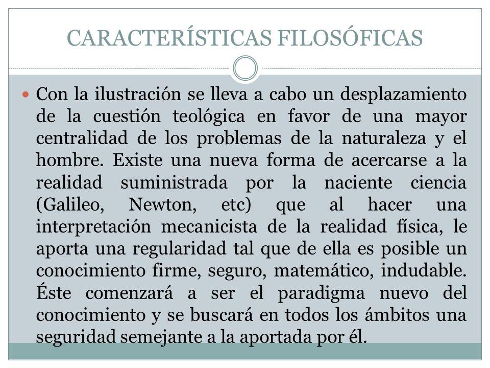 CARACTERÍSTICAS FILOSÓFICAS