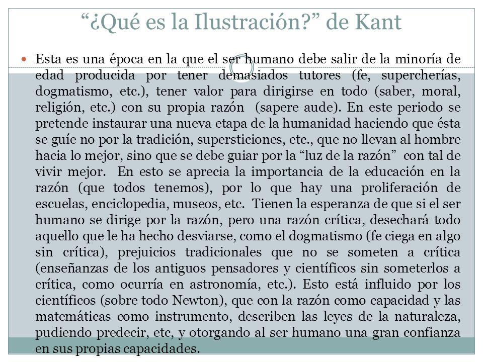 ¿Qué es la Ilustración de Kant