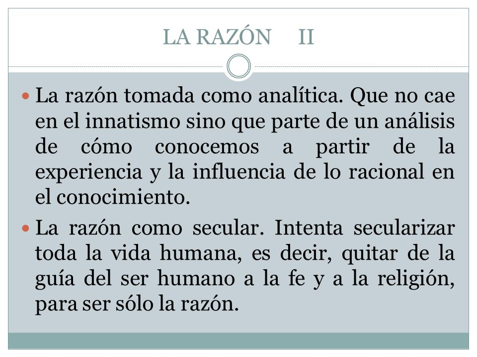 LA RAZÓN II