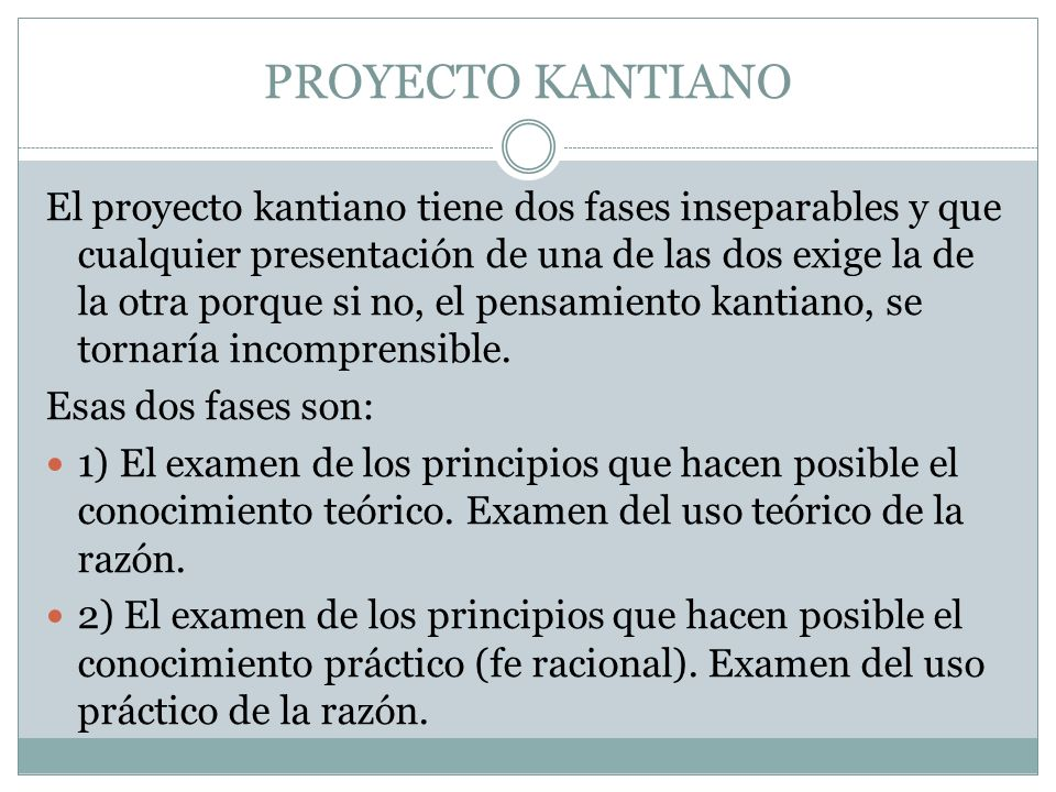 PROYECTO KANTIANO