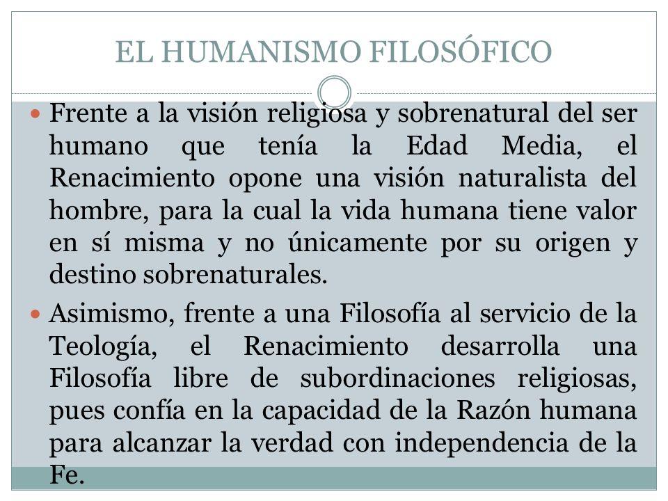 EL HUMANISMO FILOSÓFICO