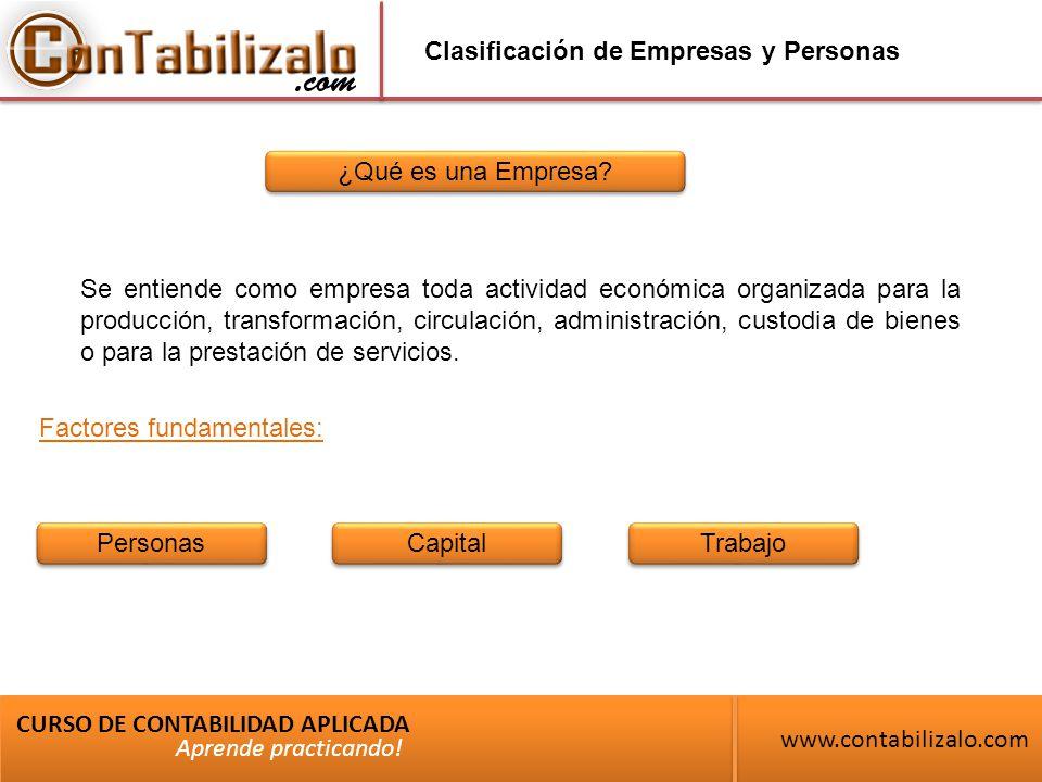 Clasificación de Empresas y Personas