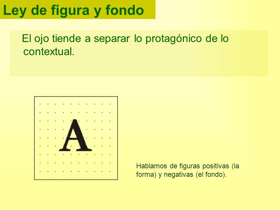Ley de figura y fondoEl ojo tiende a separar lo protagónico de lo contextual.