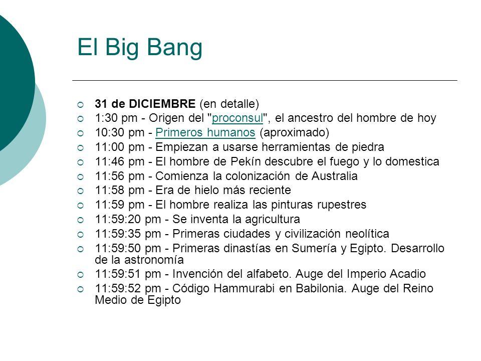 El Big Bang 31 de DICIEMBRE (en detalle)