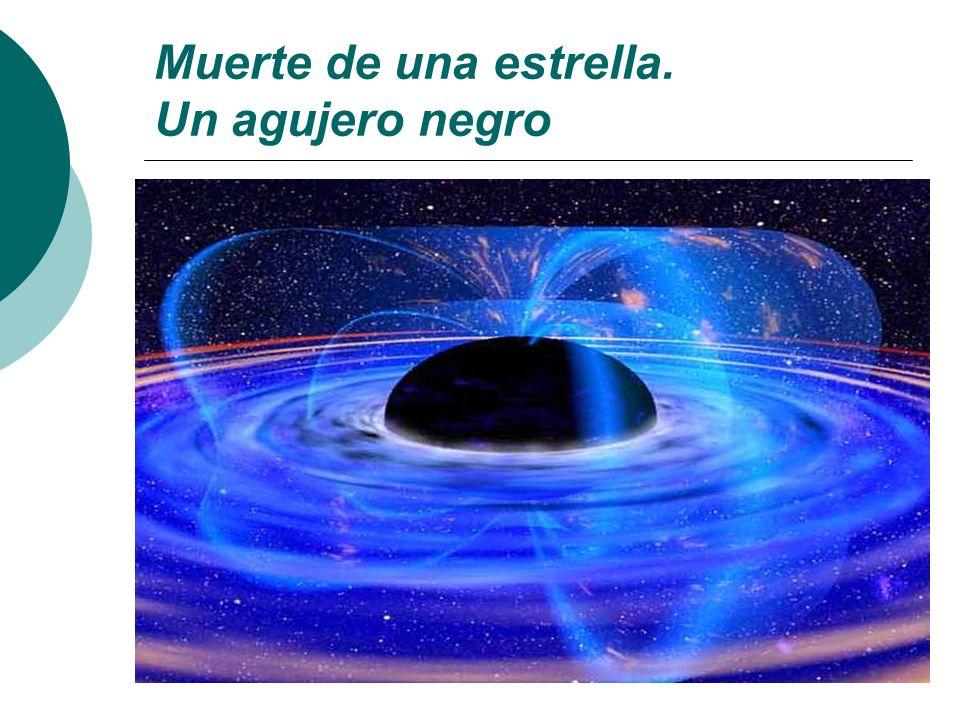 Muerte de una estrella. Un agujero negro