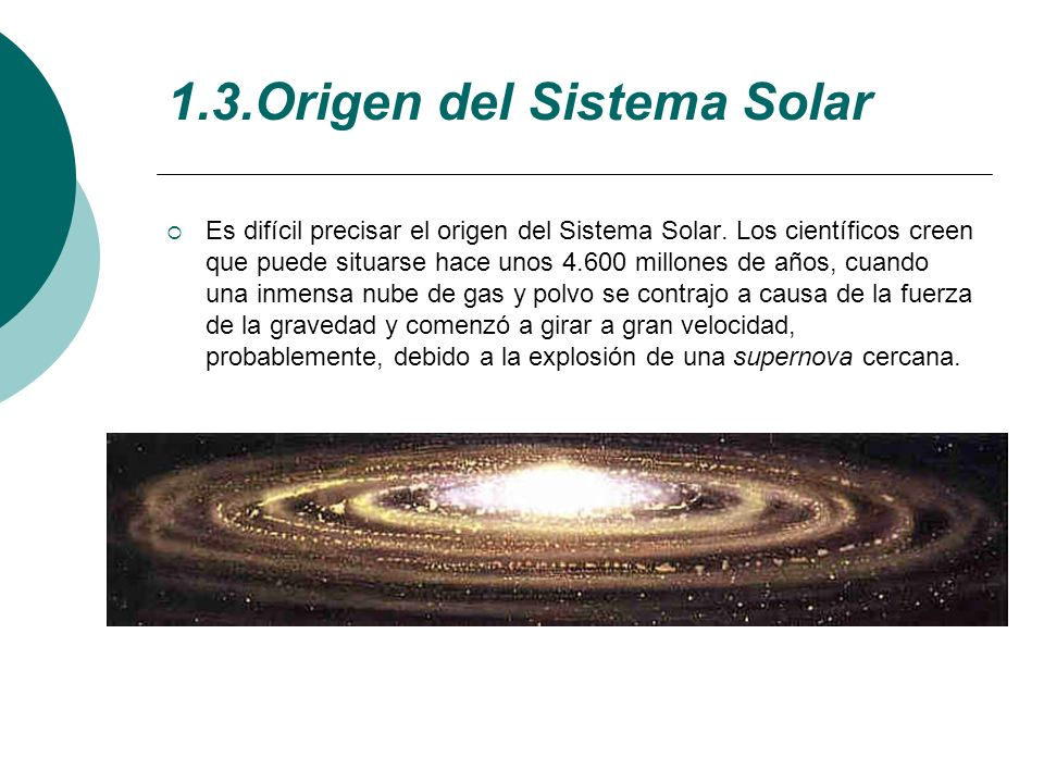 1.3.Origen del Sistema Solar