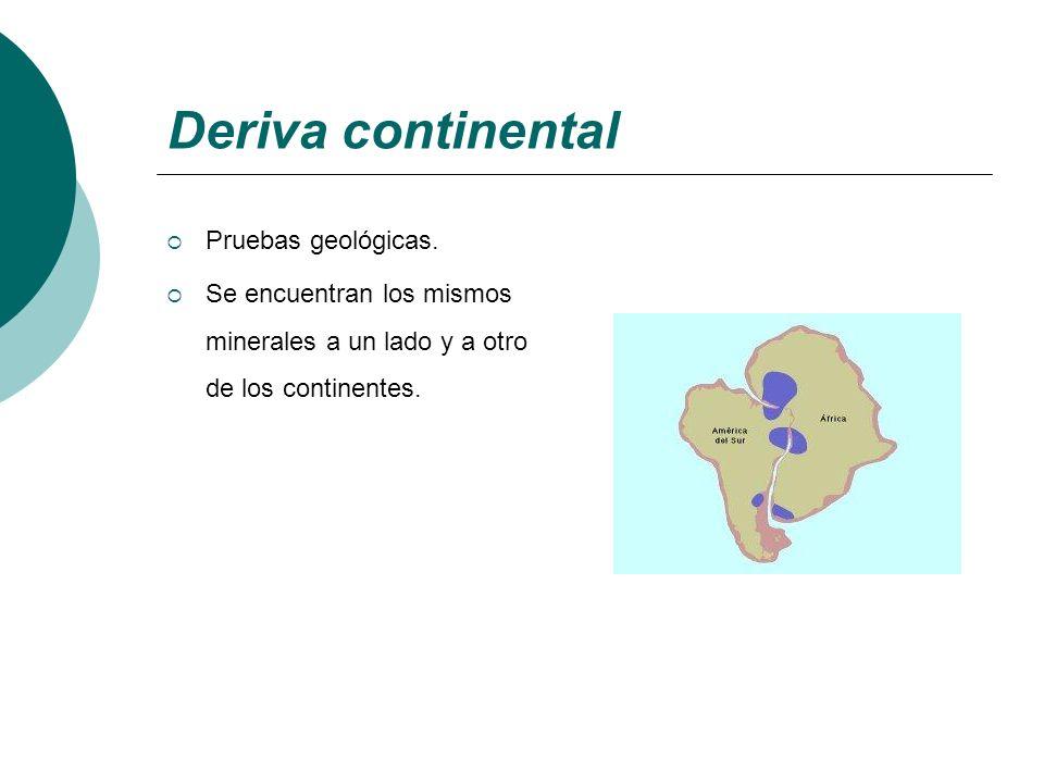 Deriva continental Pruebas geológicas.