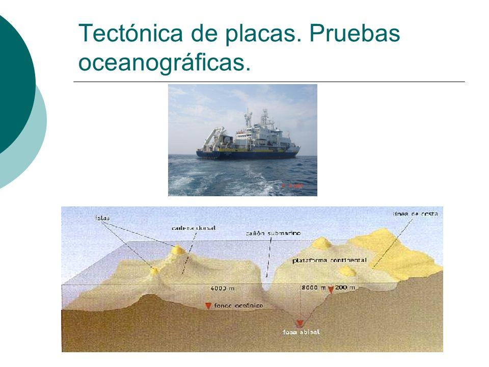 Tectónica de placas. Pruebas oceanográficas.