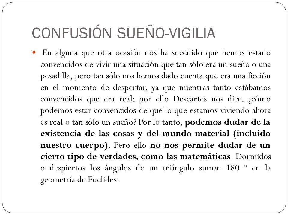 CONFUSIÓN SUEÑO-VIGILIA
