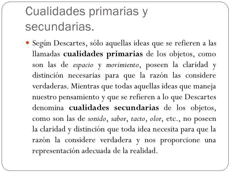 Cualidades primarias y secundarias.