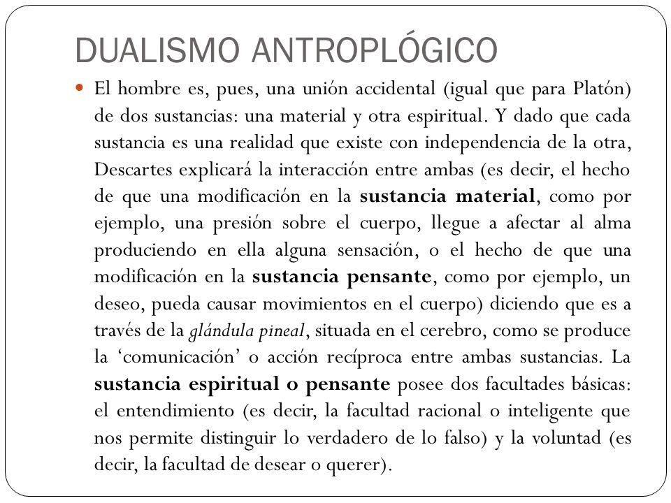 DUALISMO ANTROPLÓGICO
