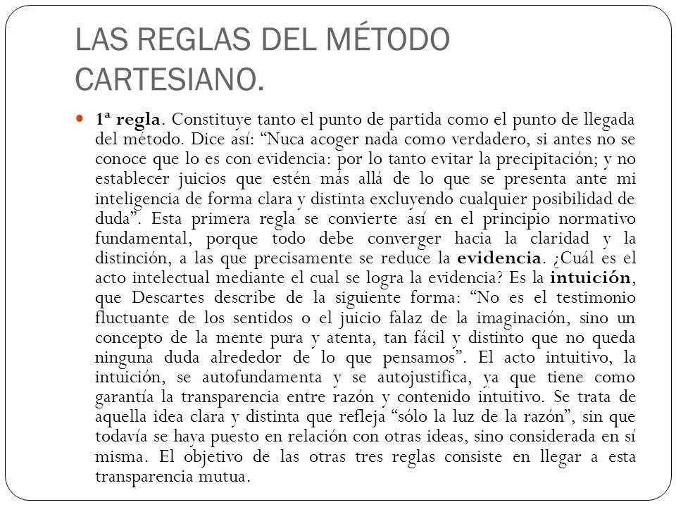 LAS REGLAS DEL MÉTODO CARTESIANO.