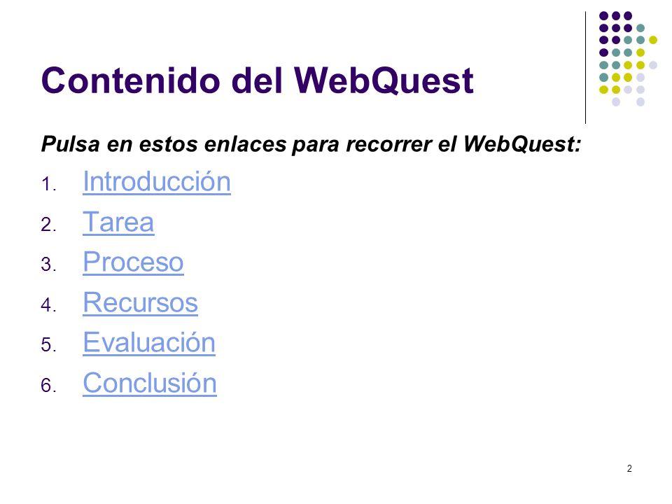 Contenido del WebQuest