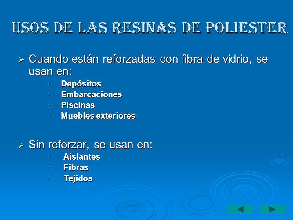 USOS DE LAS RESINAS DE POLIESTER