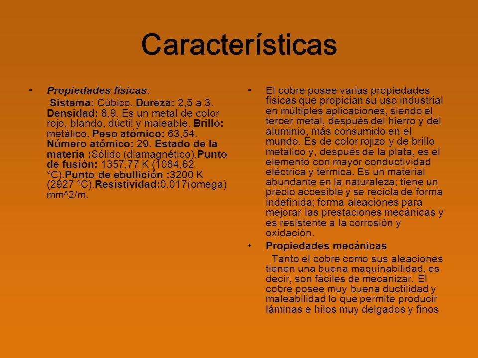 Características Propiedades físicas: