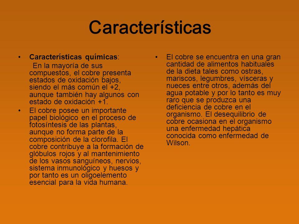 Características Características químicas: