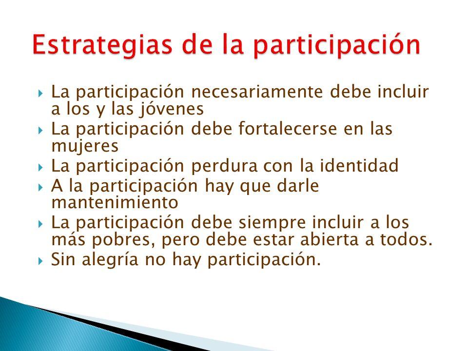 Estrategias de la participación