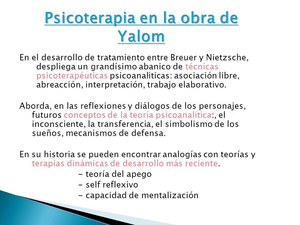 Psicoterapia en la obra de Yalom