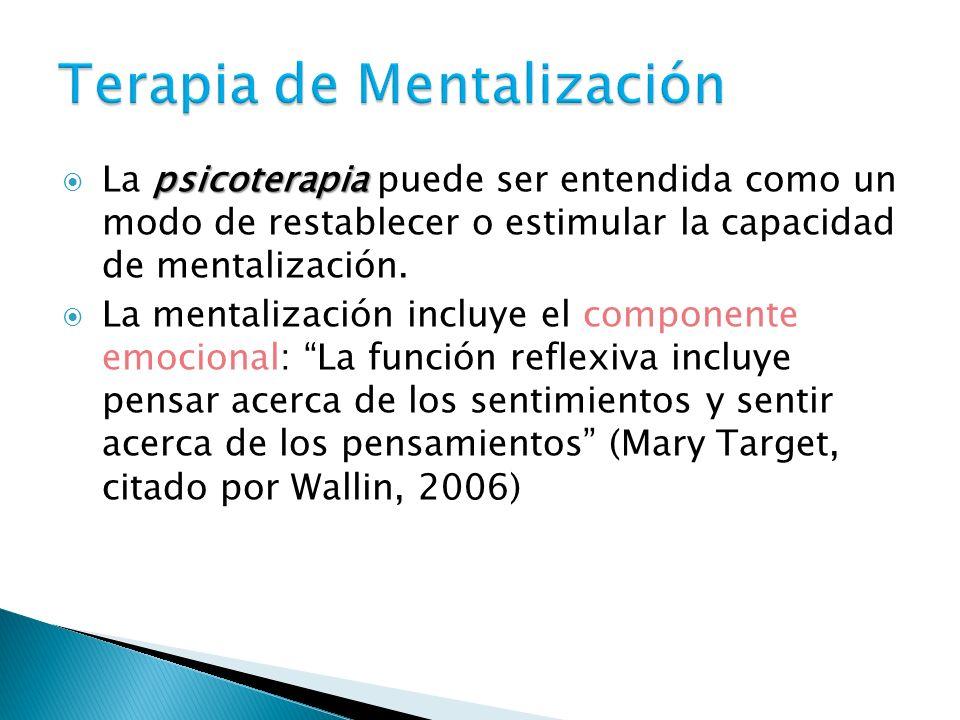 Terapia de Mentalización