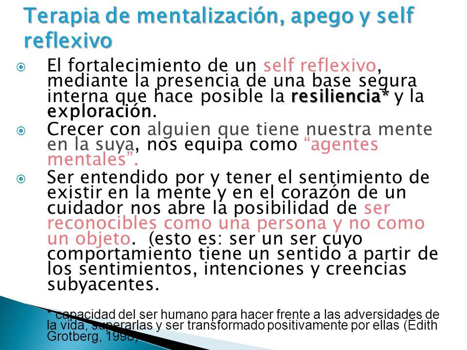 Terapia de mentalización, apego y self reflexivo