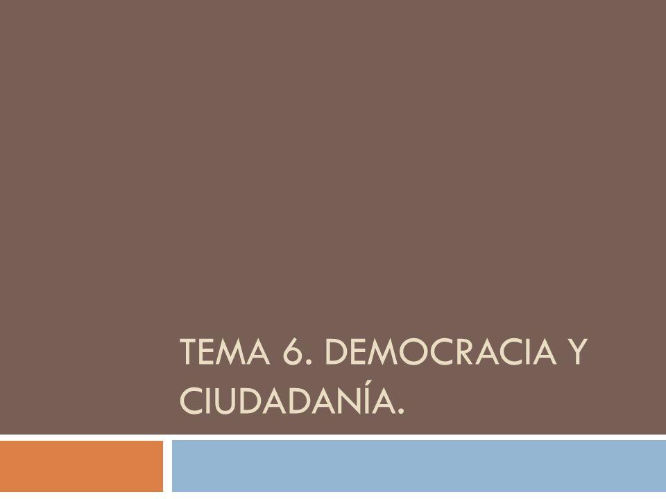 TEMA 6. DEMOCRACIA Y CIUDADANÍA.