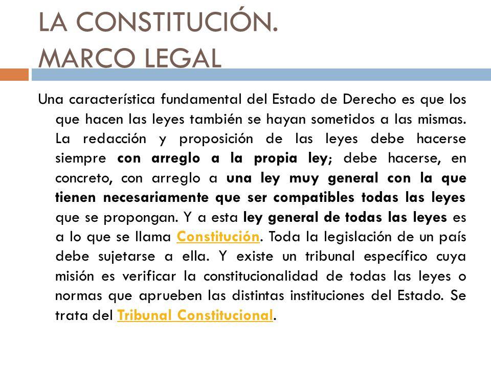 LA CONSTITUCIÓN. MARCO LEGAL