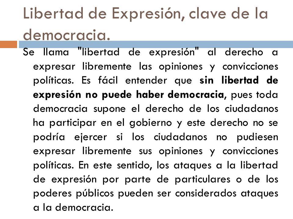 Libertad de Expresión, clave de la democracia.