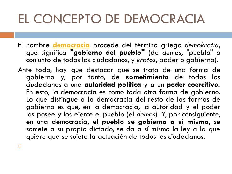 EL CONCEPTO DE DEMOCRACIA