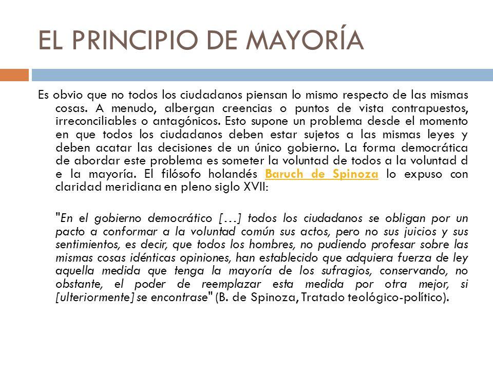 EL PRINCIPIO DE MAYORÍA