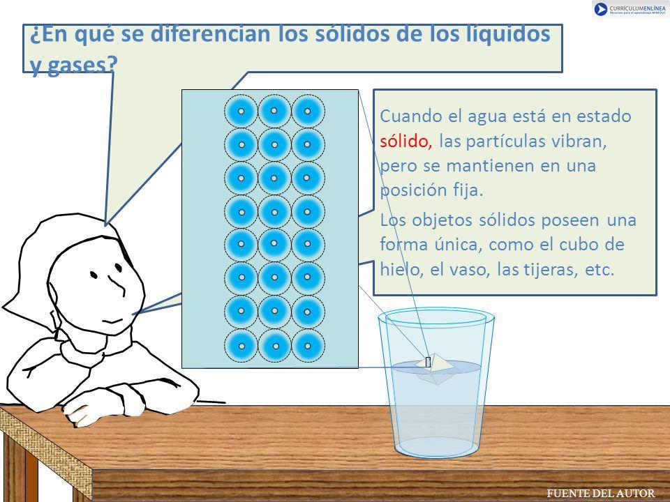 ¿En qué se diferencian los sólidos de los líquidos y gases