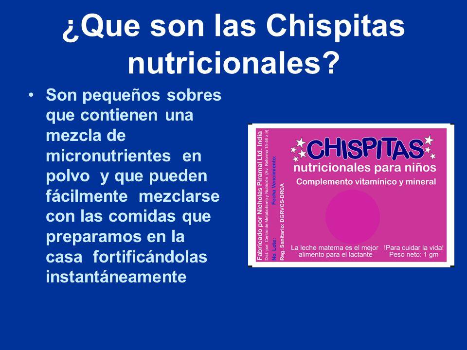¿Que son las Chispitas nutricionales