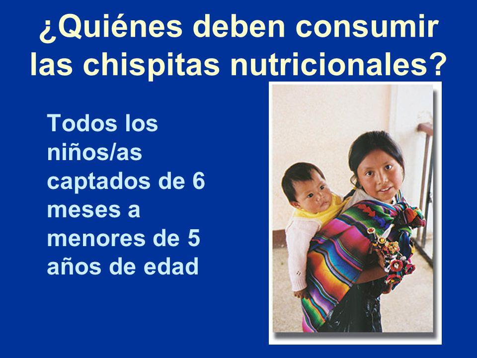 ¿Quiénes deben consumir las chispitas nutricionales