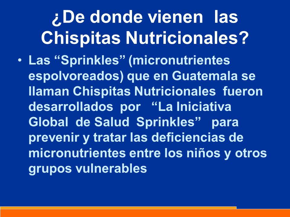 ¿De donde vienen las Chispitas Nutricionales