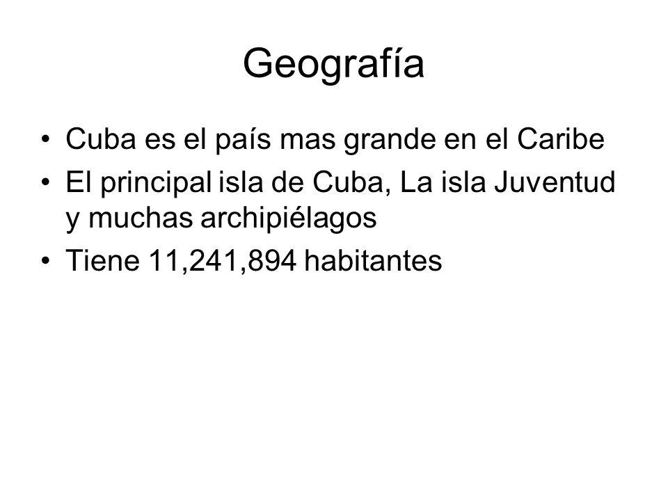 Geografía Cuba es el país mas grande en el Caribe