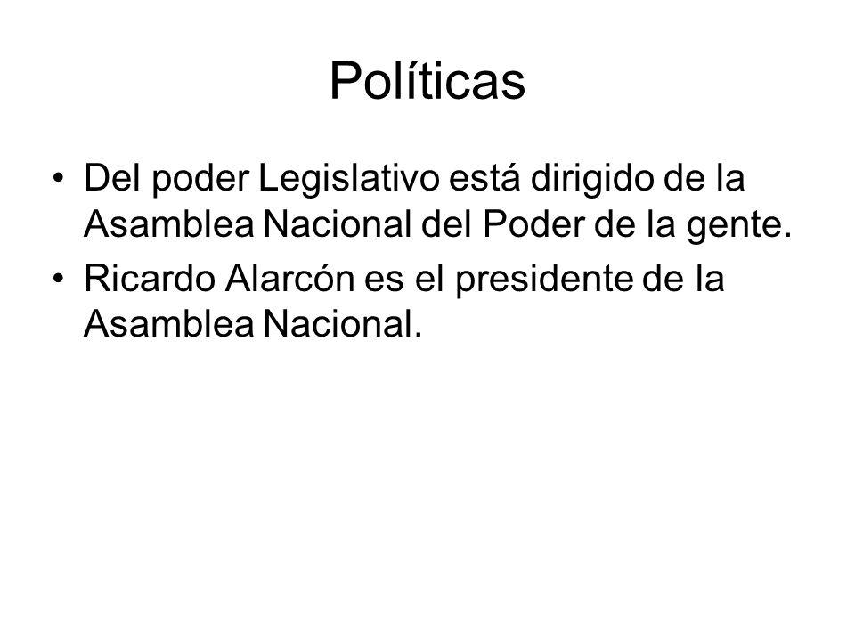 Políticas Del poder Legislativo está dirigido de la Asamblea Nacional del Poder de la gente.