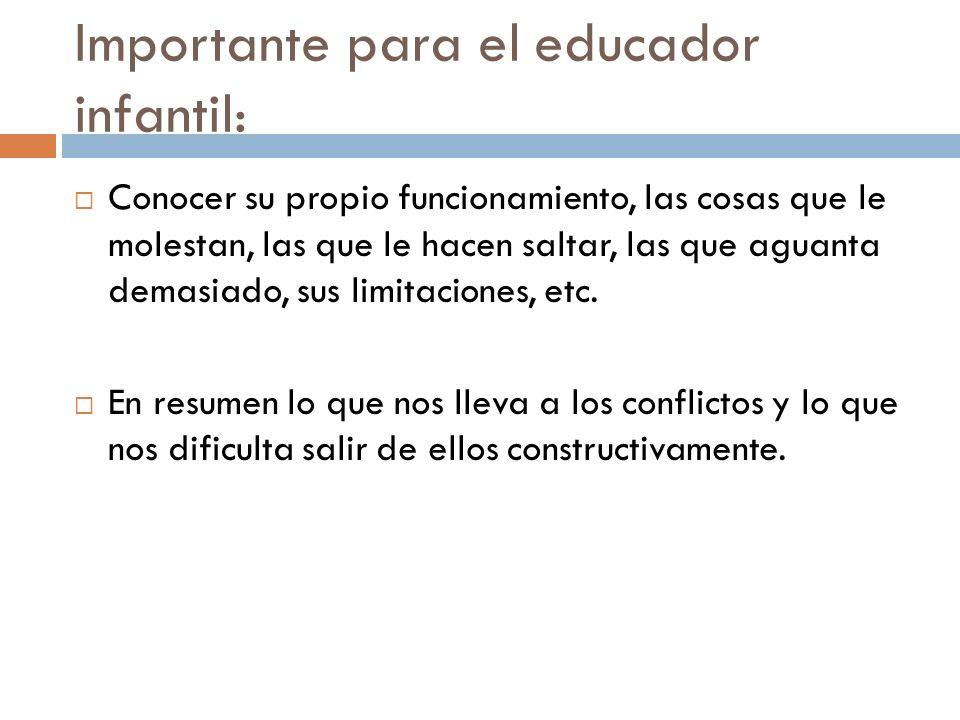 Importante para el educador infantil:
