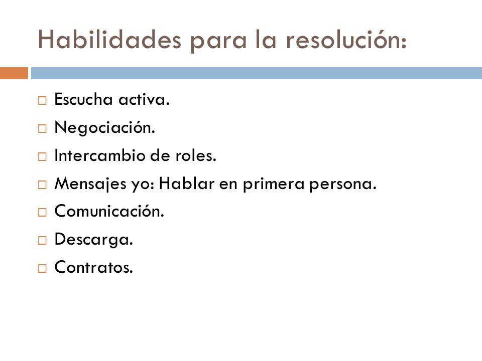 Habilidades para la resolución: