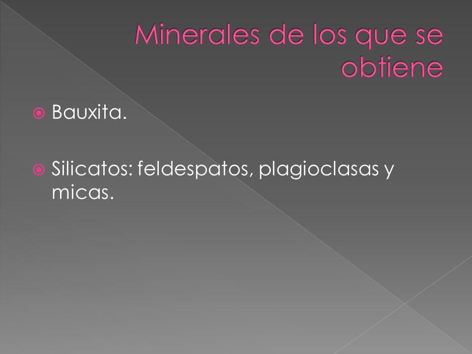 Minerales de los que se obtiene