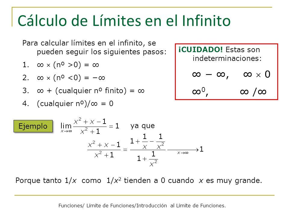 Cálculo de Límites en el Infinito