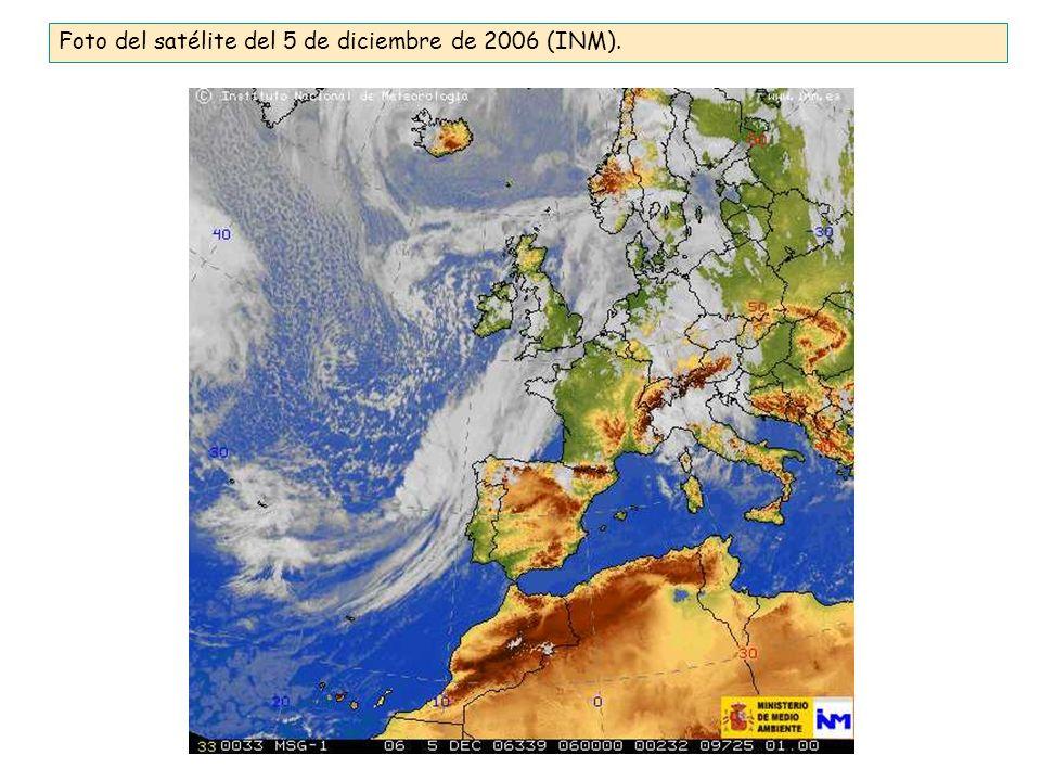 Foto del satélite del 5 de diciembre de 2006 (INM).