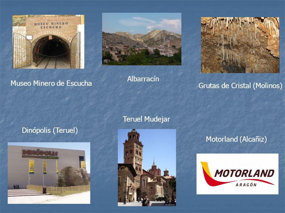 Albarracín Museo Minero de Escucha. Grutas de Cristal (Molinos) Teruel Mudejar. Dinópolis (Teruel)