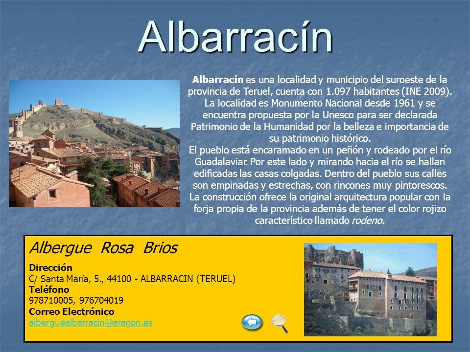 Albarracín Albergue Rosa Brios